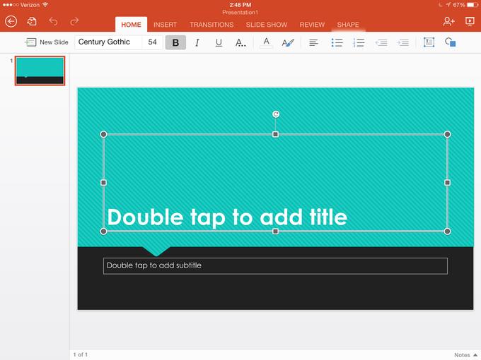 Microsoft выпустила Office для iPad . Изображение № 13.