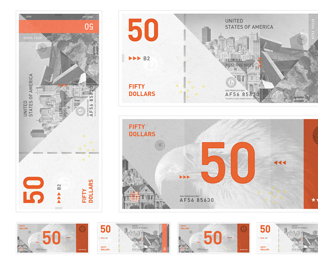 Студент представил редизайн банкнот американского доллара. Изображение № 2.
