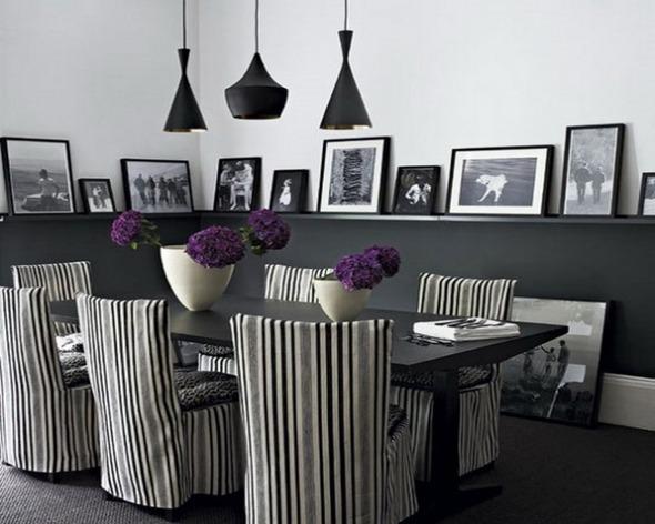Черно-белые фотографии в интерьере. Изображение № 1.