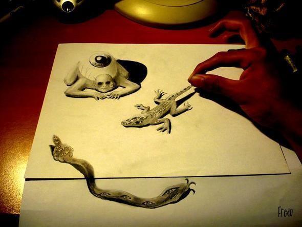 """Изображение 8. Реалистичные 3D рисунки """"в карандаше"""".. Изображение № 8."""