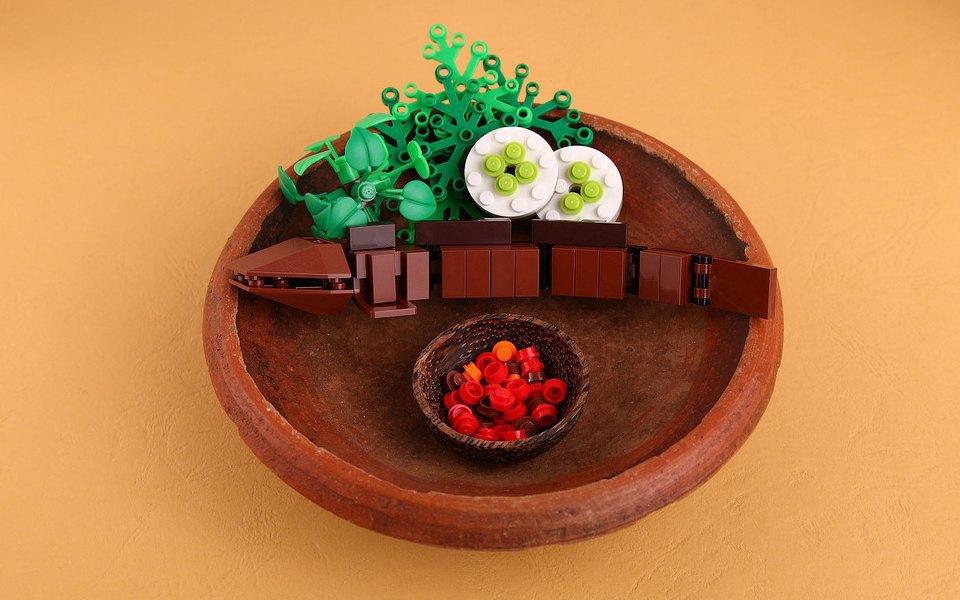 Как выглядит еда, сделанная из LEGO. Изображение № 3.