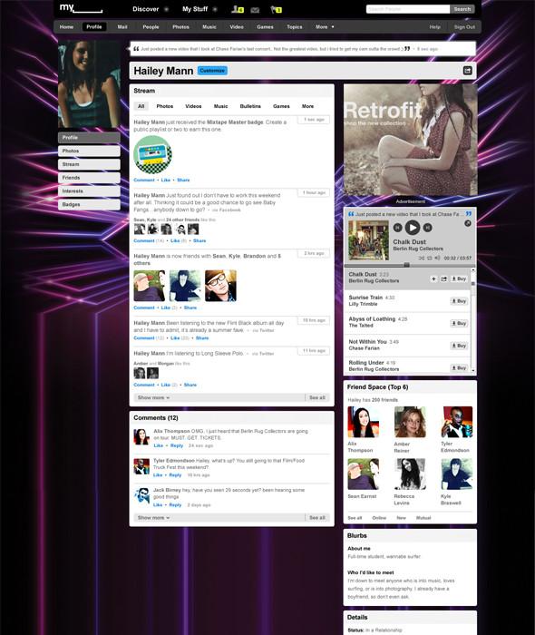 Новый Myspace. Изображение № 6.