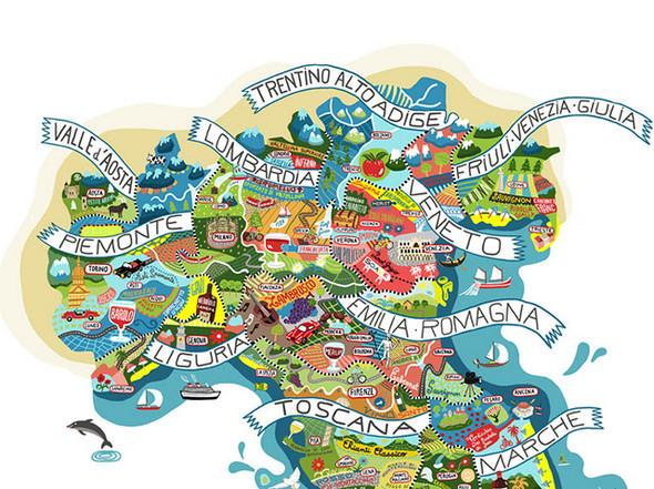Винная карта Италии от Antoine Corbineau. Изображение № 4.