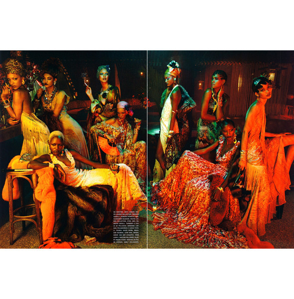 Изображение 8. The Blackallure: съемка с темнокожими моделями в итальянском Vogue.. Изображение № 8.