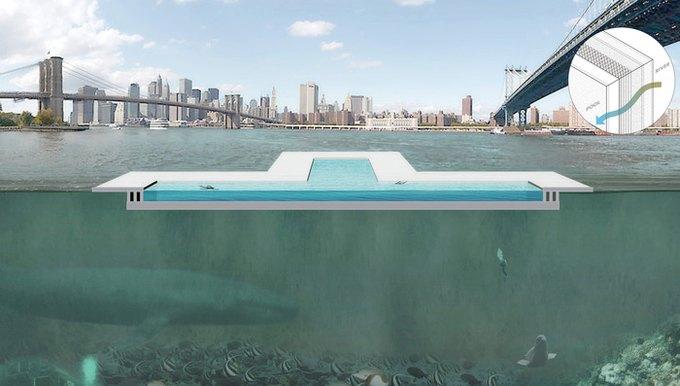 В Сети собирают деньги на экспериментальный бассейн в Нью-Йорке. Изображение № 2.