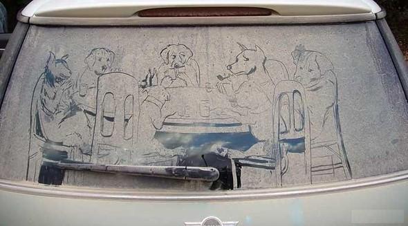 Рисунки напыльных стёклах. Изображение № 10.