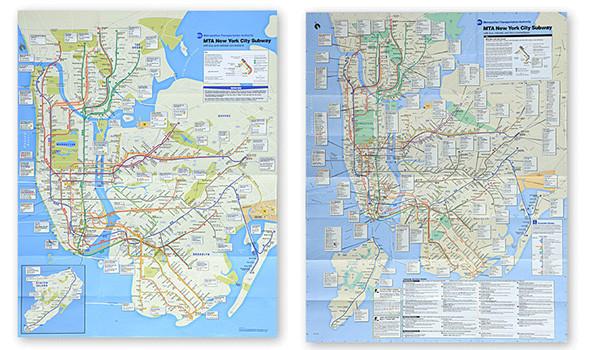 схем метро Нью-Йорка.