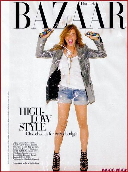Линдси Лохан – Harper's Bazaar, декабрь 2008. Изображение № 1.