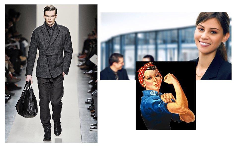 Офисные работники, независимые женщины, мужская одежда . Изображение № 4.
