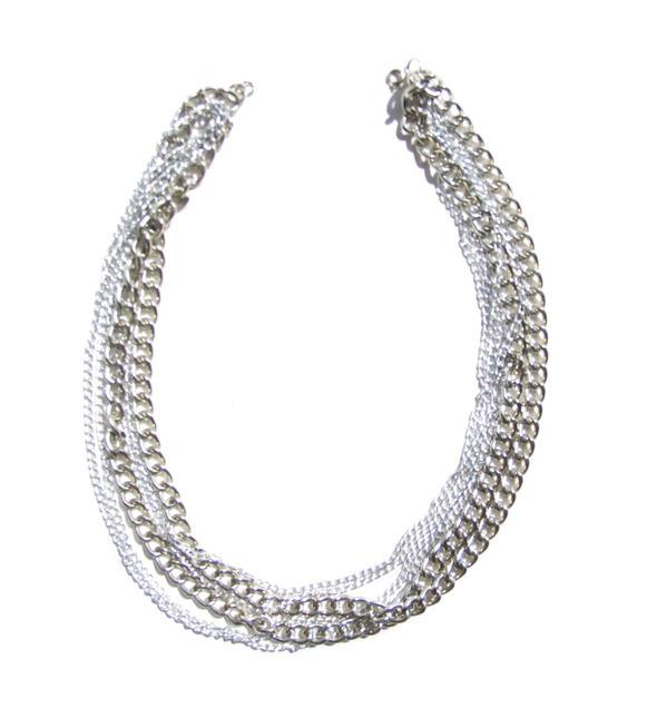 Ожерелья из цепей гаек и сантехнического шнура. Часть1. Изображение № 15.