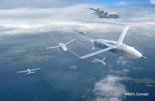 DARPA предложило запускать ссамолётов рои военных дронов. Изображение № 1.