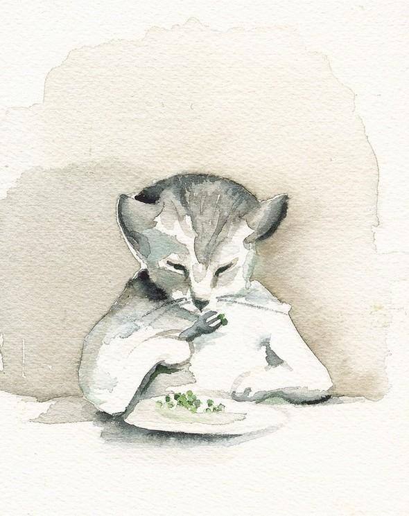 Изображение 14. Amber Alexander - животные, сияющие акварелью.. Изображение № 14.