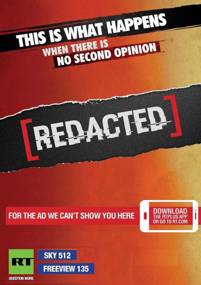 В Лондоне запретили «политическую» рекламу Russia Today. Изображение № 3.