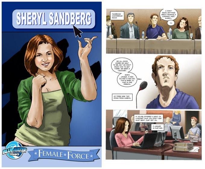 Операционный директор Facebook стала героиней комикса. Изображение № 1.