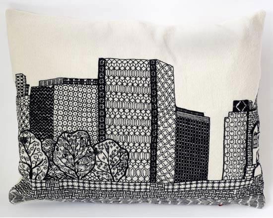 Чарлин Муллен. Городские пейзажи с помощью иглы и нити. Изображение № 1.