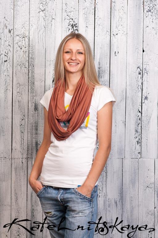 Осенняя коллекция ярких шарфов-снудов. Изображение № 14.