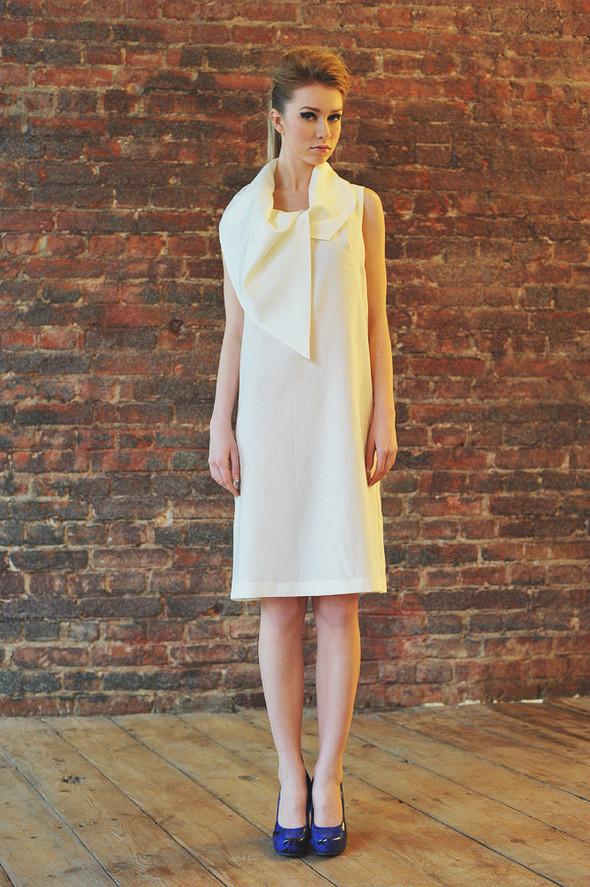 CW87 платье белое, состав:50% шелк, 50% хлопок размеры: s, m. Изображение № 25.