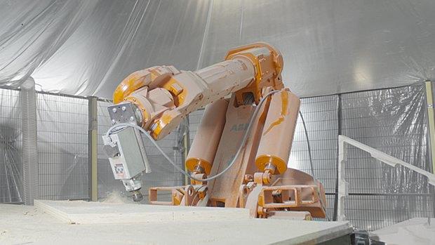 В Роттердаме робот помог возвести деревянный павильон. Изображение № 10.