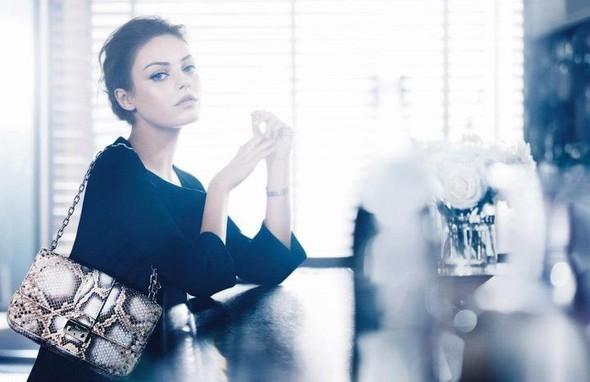 Кампания: Мила Кунис для Miss Dior Handbags SS 2012. Изображение № 1.