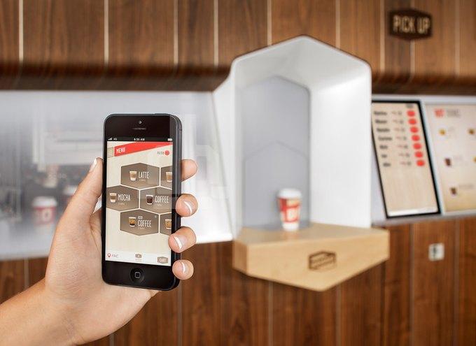 Ив Беар спроектировал «умную» кофейню, управляемую смартфоном. Изображение № 3.
