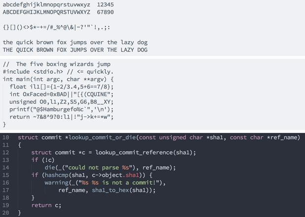 На GitHub выложили 63 шрифта дляпрограммирования. Изображение № 1.