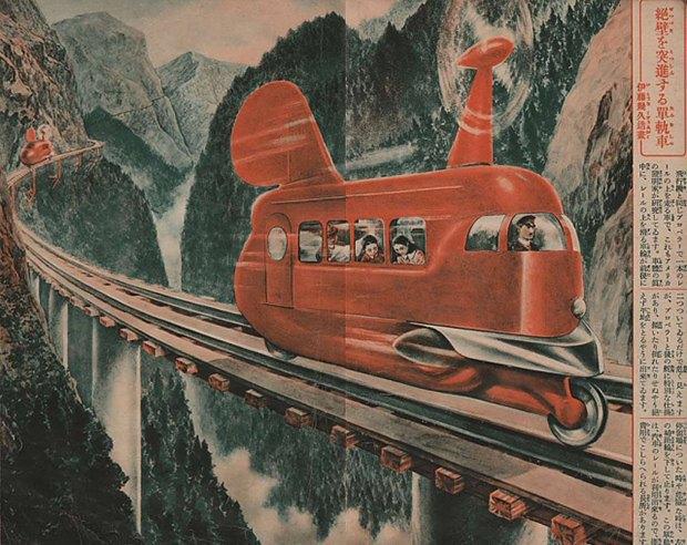 Транспорт будущего:  5 странных идей  из Японии 30-х. Изображение № 4.