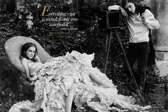 Архивная съемка: Наталья Водянова для американского Vogue 2003. Изображение № 6.