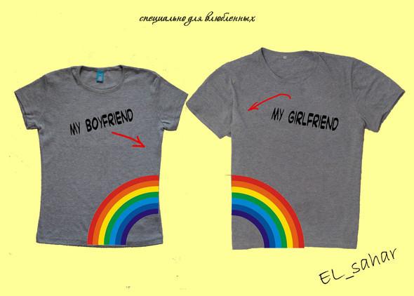 Elsaharova: половинчатые футболки на 14 февраля. Изображение № 2.