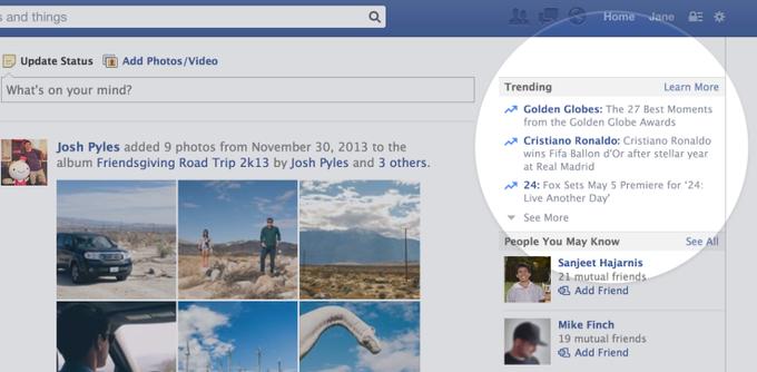 В Facebook появятся тренды . Изображение № 1.