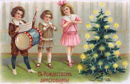 Новогодняя ирождественская открытка. Изображение № 15.