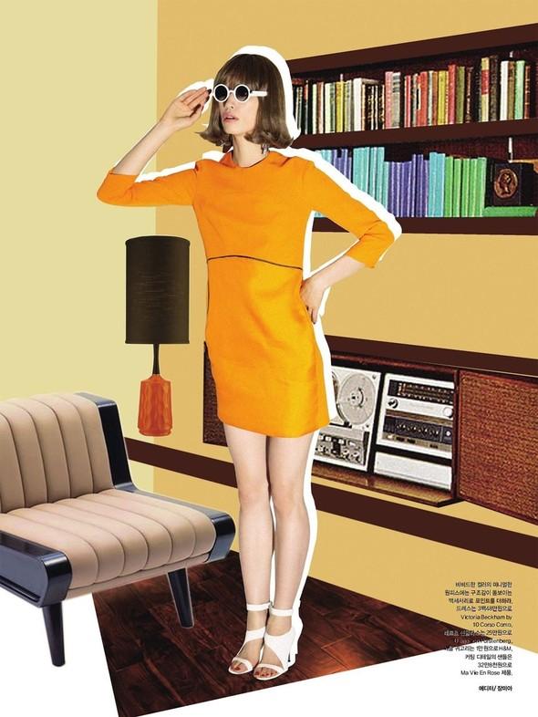 """Съемка: сет """"60s Bang Bang"""" в корейском Harper's Bazaar. Изображение № 2."""
