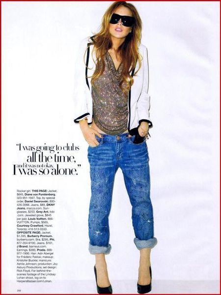 Линдси Лохан – Harper's Bazaar, декабрь 2008. Изображение № 6.
