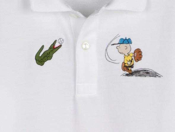 Поло Lacoste к 60-ому дню рождения комикса The Peanuts. Изображение № 1.