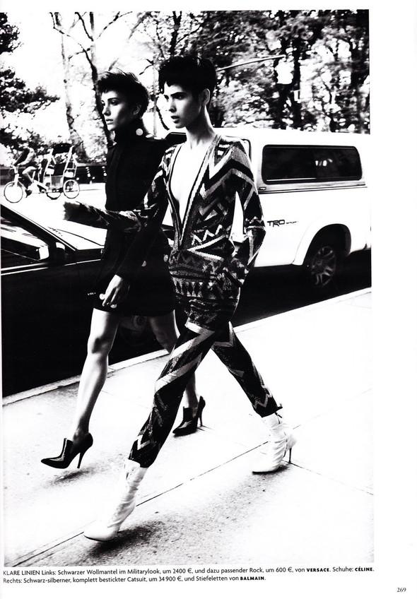 Съёмка: Хана Бен Абдесслем и Валерия Келава для Vogue. Изображение № 8.