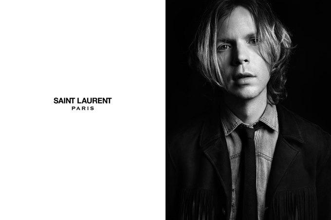 Бек и Эди Кэмпбелл снялись в кампании Saint Laurent. Изображение № 5.