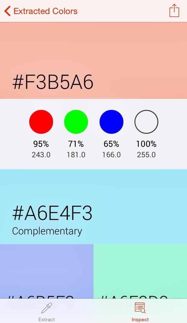 Вышло приложение для захвата и анализа цвета с фотографий. Изображение № 5.