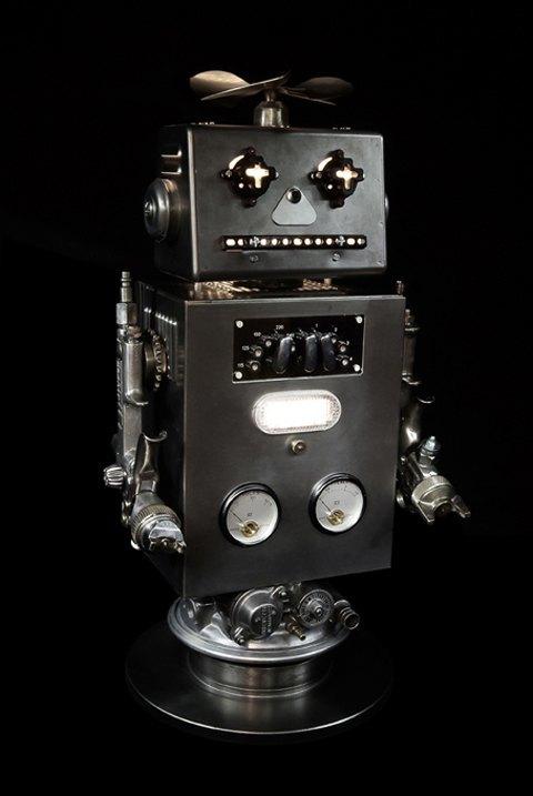 Фото: забавные роботы из промышленного мусора . Изображение № 2.