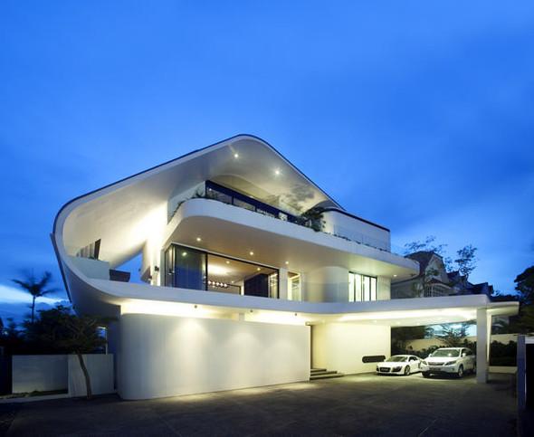 «Трехпалубная» вилла от Aamer Architects. Изображение № 16.