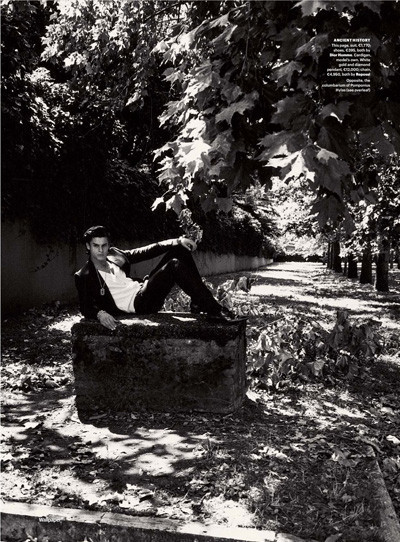 Baptiste Giabiconi for Wallpaper October 2009. Изображение № 4.