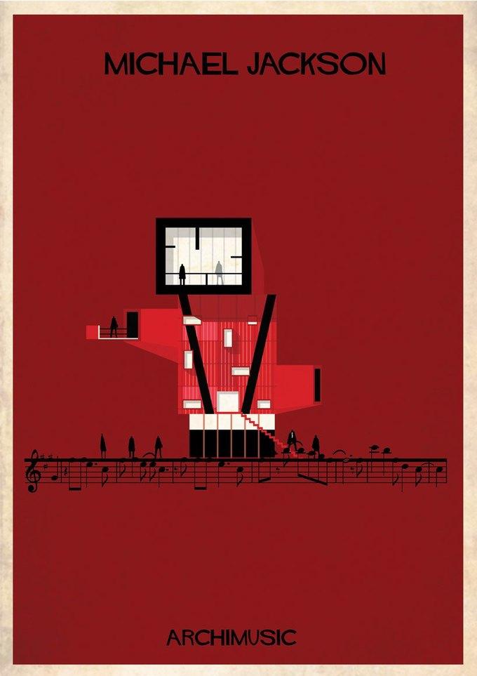 Испанский архитектор превратила песни в здания для новой серии плакатов . Изображение № 4.