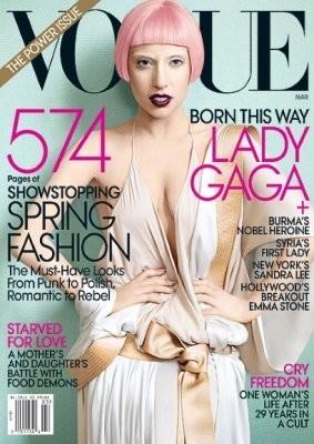 Леди Гага на обложке американского Vogue, март 2011. Изображение № 2.