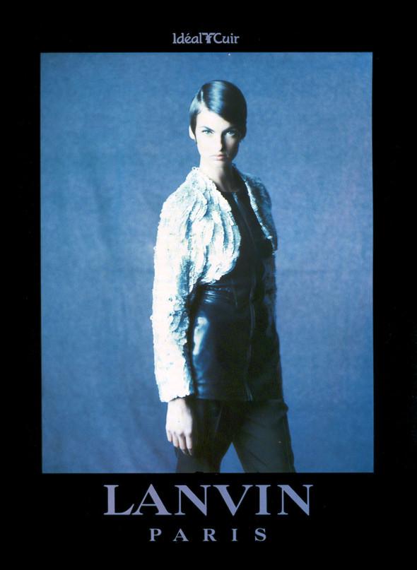 Архивная съёмка: Линда Евангелиста для Lanvin, 1990. Изображение № 2.