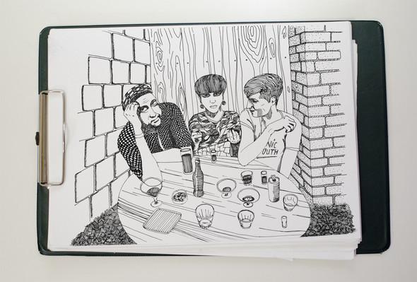 Чёрные ручки, молескин. Изображение №17.