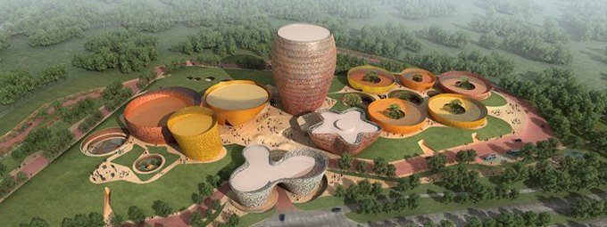 Архитектура дня: музей керамики со зданиями в форме чаш в Китае. Изображение № 1.