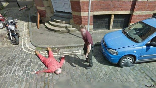 В Google Street View нашли фальшивое убийство. Изображение № 2.