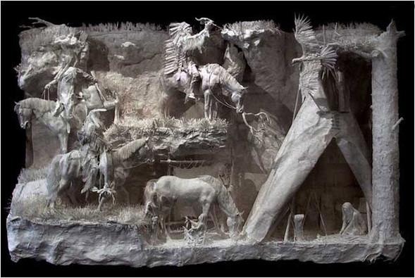 Бумажные скульптуры. Изображение № 22.
