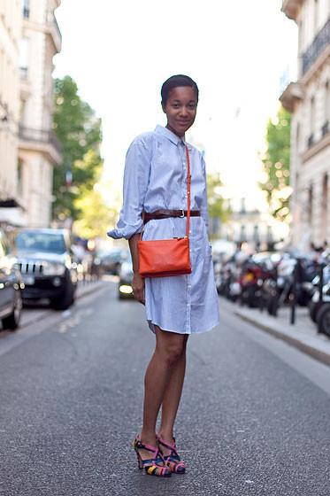 Уличный стиль на Неделе высокой моды в Париже. Изображение № 47.