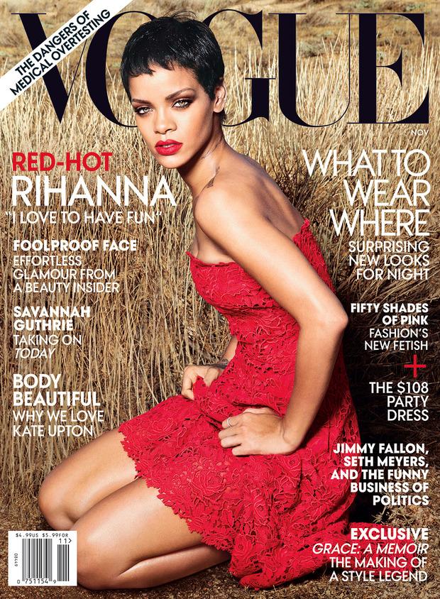 Рианну сняла Энни Лейбовиц для ноябрьского Vogue US.. Изображение № 1.