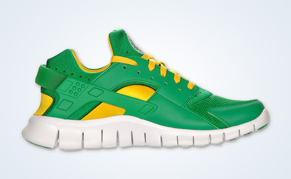 Nike Huarache Free 2012 – Court Green – White – Tour Yellow. Изображение № 4.