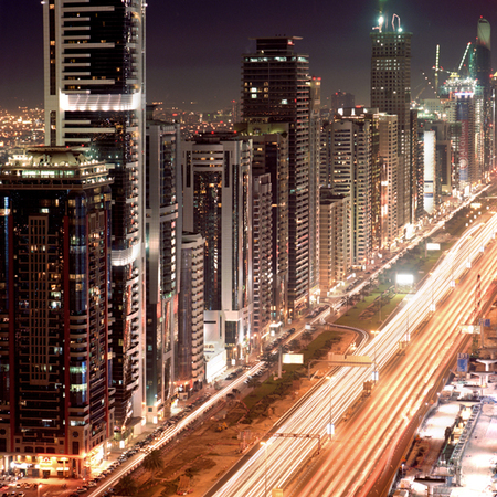 Мегаполисы ночью Гонконг, Дубаи, Нью-Йорк, Шанхай. Изображение № 14.